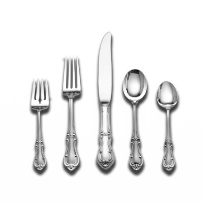 International Silver Joan of Arc 5 Piece Flatware Set with Cream Soup Spoon