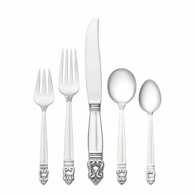 Royal Danish 66 Piece Dinner Flatware Set with Cream Soup Spoon