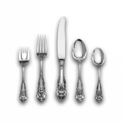 Wallace Sir Christopher 46 Piece Dinner Flatware Set with Dessert Spoon and Server