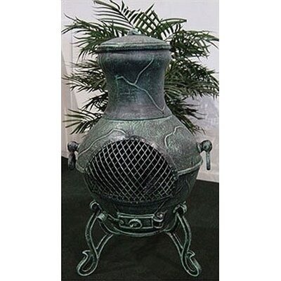 The Blue Rooster Etruscan Style Chiminea