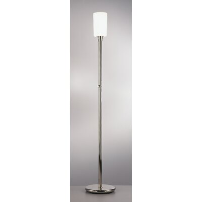 Robert Abbey Nina  Floor Torchiere in Polished Nickel