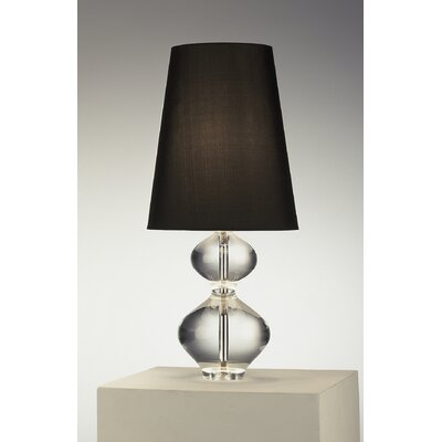 Robert Abbey Claridge Lantern Table Lamp with Black Shade