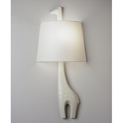 Robert Abbey Jonathan Adler Left Facing Giraffe 1 Light Wall Sconce