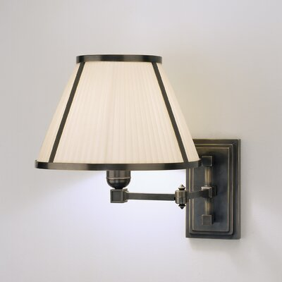 Robert Abbey Chase  Swing Arm Wall Lamp in Deep Patina Bronze