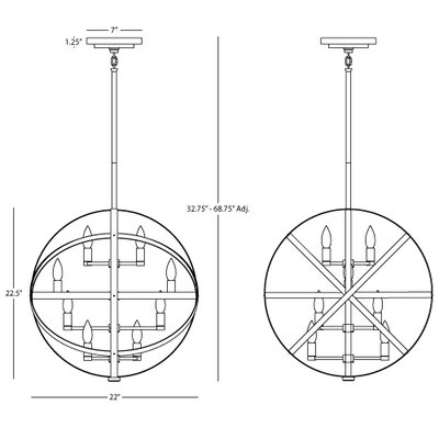 Robert Abbey Lucy 8 Light Pendant
