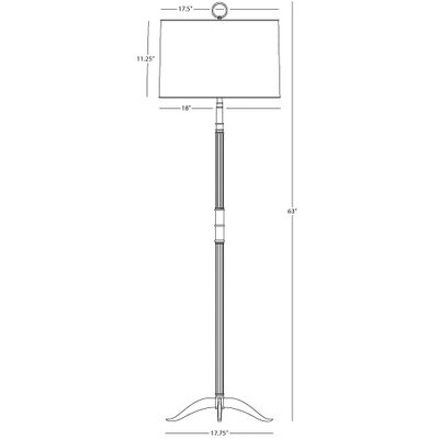 Robert Abbey Porter Floor Lamp in Polished Nickel