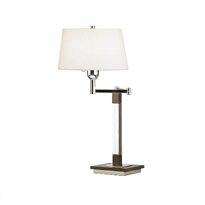 Robert Abbey Wonton Swing Arm Table Lamp with Silver Plate Finish