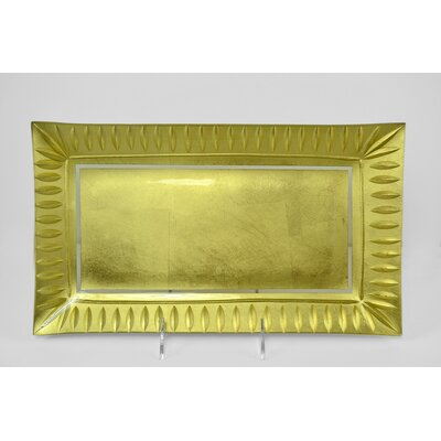 Tango Tango Precious Metal Glass Rectangular Serving Tray