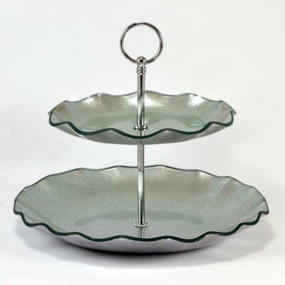 Tango Tango Precious Metal Glass 2 Tier Server