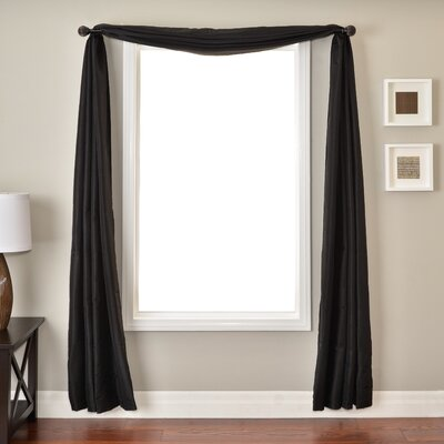 Softline Home Fashions Bella 6 Yard Scarf in Black