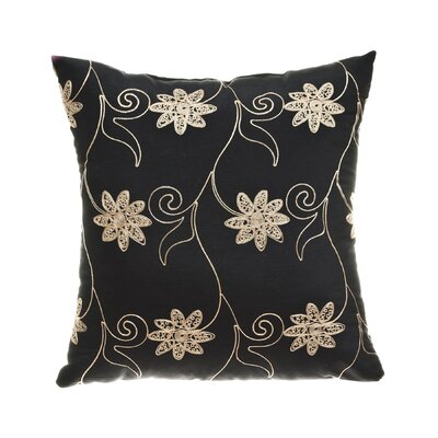 "Softline Home Fashions Sutton 18"" Pillow in Black"