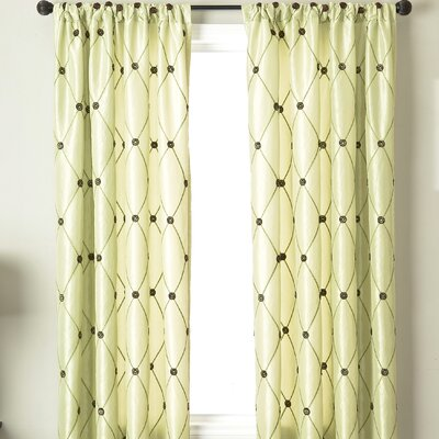Softline Home Fashions Millau Rod Pocket Curtain Single Panel