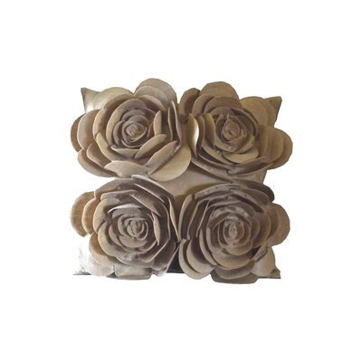 Debage Inc. Rose Petals Pillow with Felt Flower