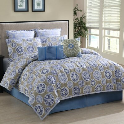 Anna 8 Piece Reversible Comforter Set