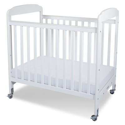 Foundations Serenity Compact Size Fixed Side Clearview Crib