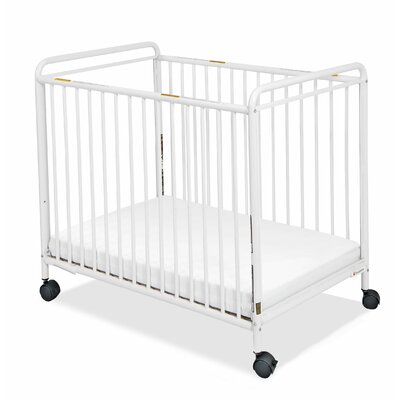 Foundations Chelsea Compact Steel Non-Folding Crib with Clearview Ends