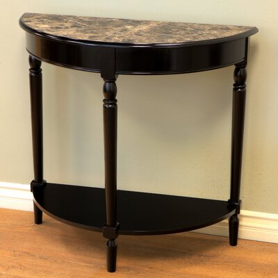 Half moon console table wayfair - Half table entryway ...