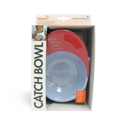 Boon Catch Bowl with Spill Catcher in Cherry / Berry Cream