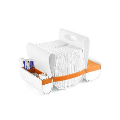 Boon Loop Diaper Caddy in Orange