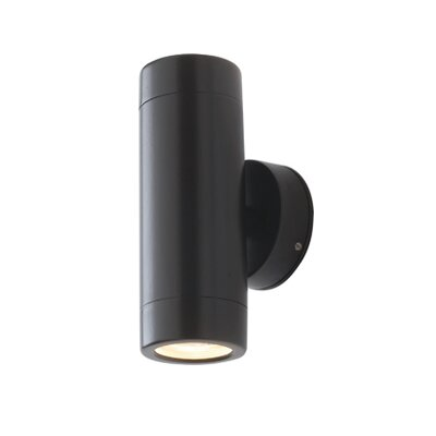 Saxby Lighting Odyssey Two Light Up / Down Wall Bracket in Satin Black
