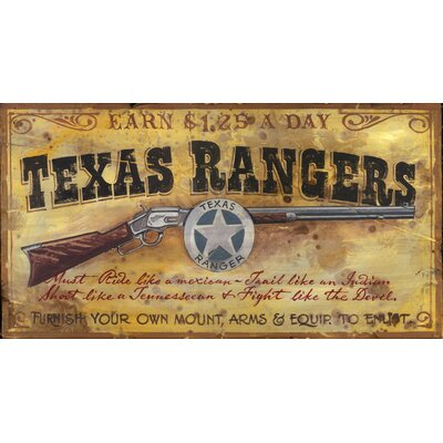 Vintage Signs Texas Ranger Vintage Sign