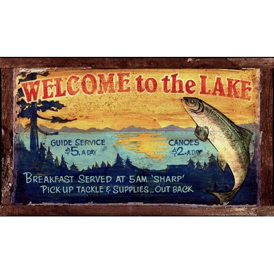 Vintage Signs Vintage Lake Sign