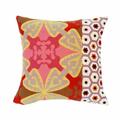 Jules Pansu Rose Tapestry Cotton Twill Pillow