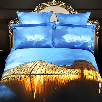 Louvre Paris Egyptian Cotton 6 Pieces Duvet Cover Set