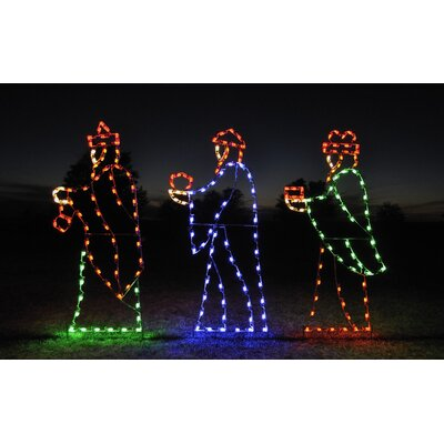 Holiday Lighting Specialists Three Wise Men Light Set