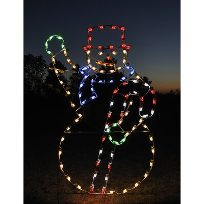 Animated Waving Snowman Light