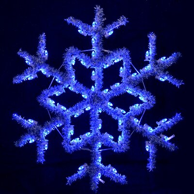 "Holiday Lighting Specialists 48"" Hanging Garland Snowflake in Blue"