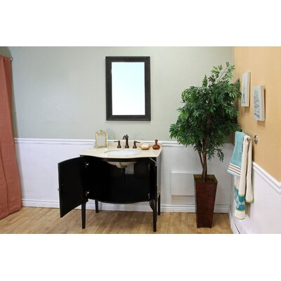 Bellaterra Home Colfax Solid Wood Framed Mirror