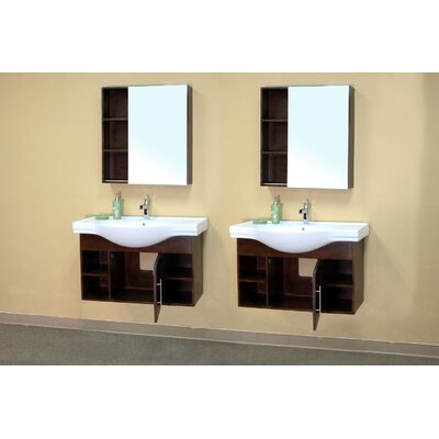 "Bellaterra Home Langdon 81"" Double Vanity Set"