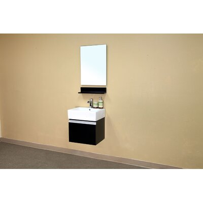 Bellaterra Home Mason Bathroom Mirror in Espresso