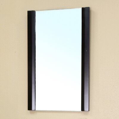Bellaterra Home Pickering Solid Wood Framed Mirror in Black