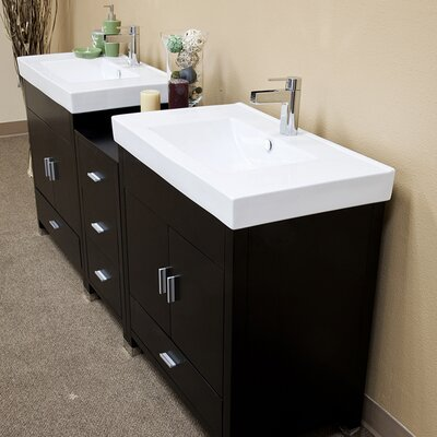 "Bellaterra Home Ramsey 80.7"" Double Vanity Set"