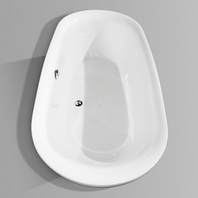 "Wyndham Collection Melissa 72"" x 35""  Soaking Bathtub"