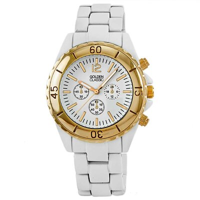 Golden Classic Women's Nautical Notion Watch in Gold / White