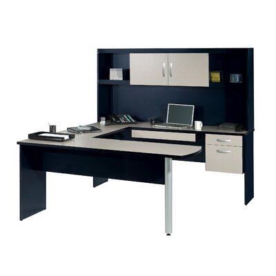 Bestar In Space U-Shape Desk with Hutch