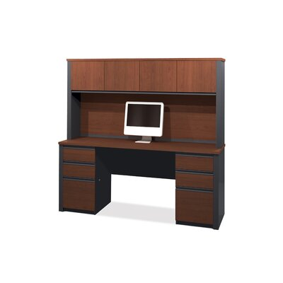 Bestar Prestige Laminate Credenza and Optional Hutch Kit