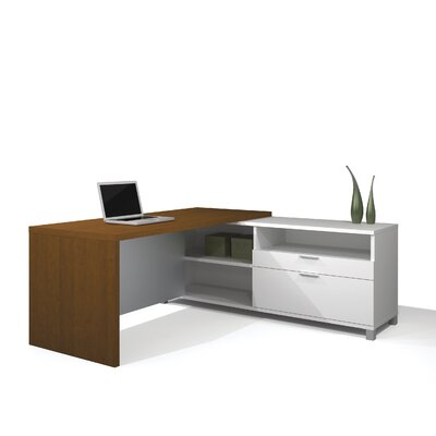 Bestar Pro-Linea L-Shaped Executive Desk