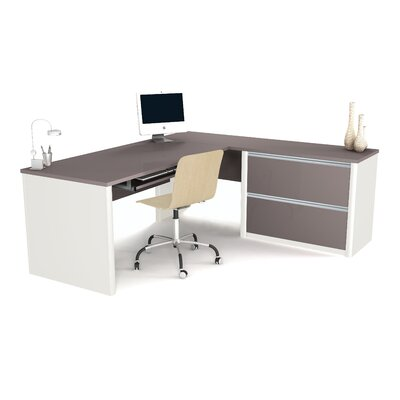 Bestar Connexion L-Shape Desk Office Suite