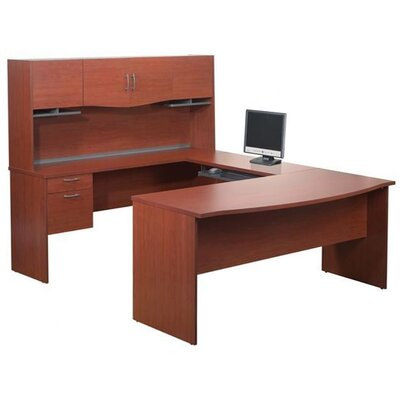 Bestar Harmony U-Shape Executive Workstation with Storage Drawers