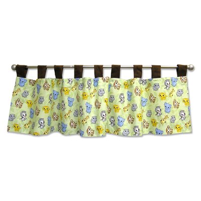 Trend Lab Chibi Zoo Tab Top Tailored Curtain Valance