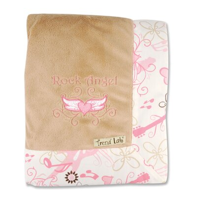 Trend Lab Rock Angel Framed Receiving Blanket