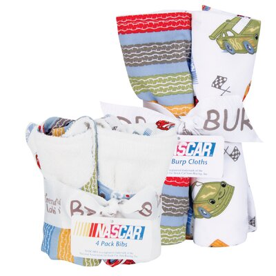 Trend Lab NASCAR Bouquet Bib and Burp Cloth Set
