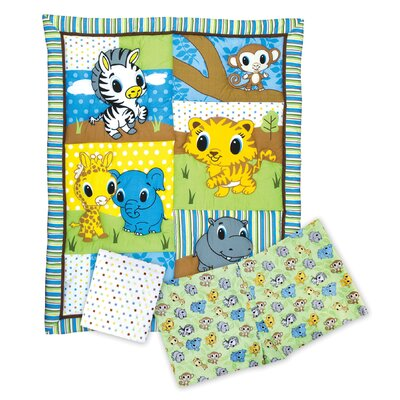 Trend Lab Riley Tiger and Friends 3 Piece Crib Bedding Set