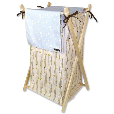 Trend Lab Winterberry Blue Hamper Set with Frame