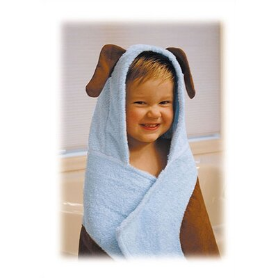 Trend Lab Terry Velour Pink Puppy Hooded Towel