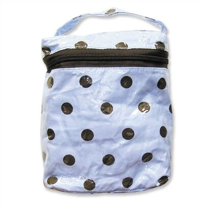 Insulated Bottle Bag in Max Polka Dot Blue